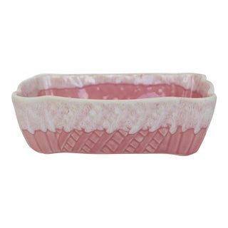 Pink Drip Glaze Planter