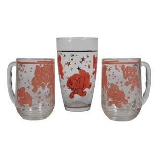 Pink Elephant Beer Glasses - Set of 3