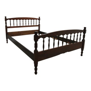 Stickley Cherry Spindle Carved Full Size Headboard Bedframe