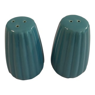 Vintage Blue Pepper and Salt Shakers