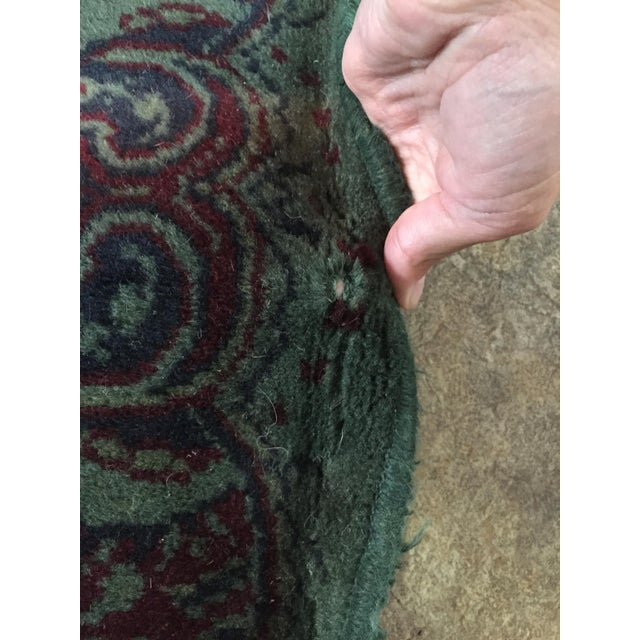 Vintage Over Dyed Distressed Green Wool Rug - 3 x 5 - Image 7 of 7
