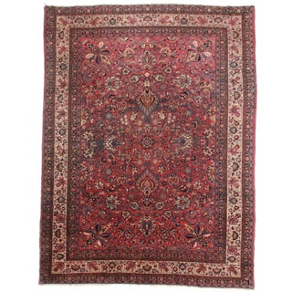 Hand-Knotted Persian Mashad Rug - 9′11″ × 13′3″