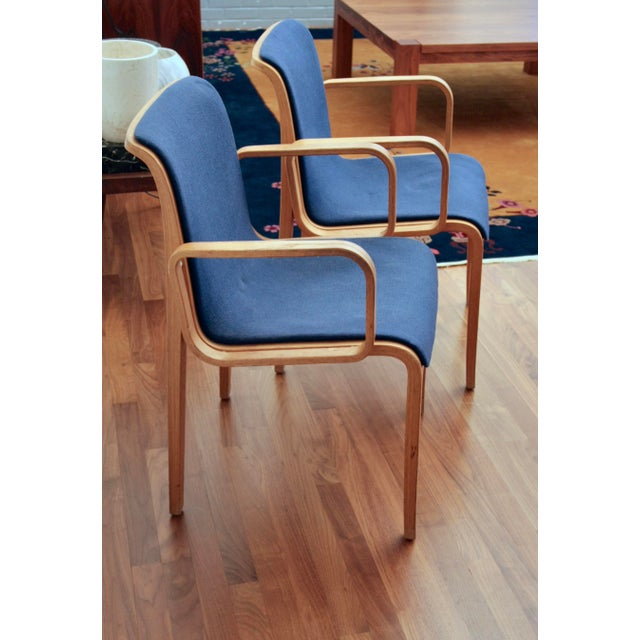 Bill Stephens for Knoll Arm Chairs, a Pair - Image 3 of 8