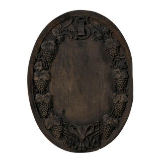 A French, Hand-Carved Wine Cellar Plaque, 19th Century