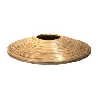 Large Spun Bamboo Vessel Vase