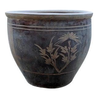 Vintage Chinese Clay Ceramic Planter Pot