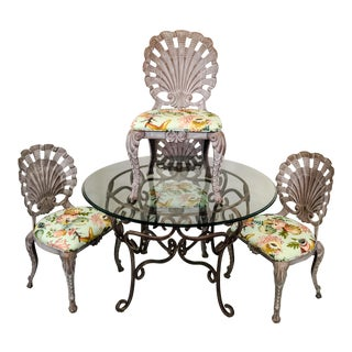 Grotto Style Patio Dining Set w/ 4 Chairs