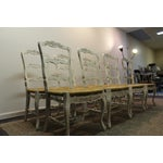 Image of Country French Rush Ladder Chairs - Set of 8