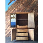 Image of Vintage Wood and Cork Brutalist Armoire