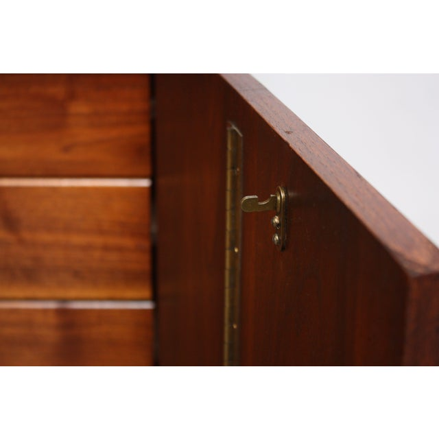 Midcentury Walnut and Brass Gentleman's Chest after Paul McCobb - Image 7 of 9