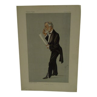 "Vintage Vanity Fair Print - ""A Literary Oculist"" Carter, April 9, 1892"