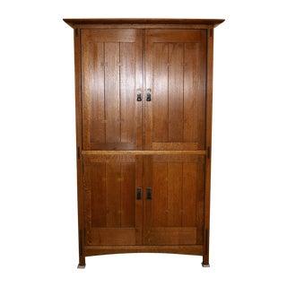 Stickley Oak Armoire