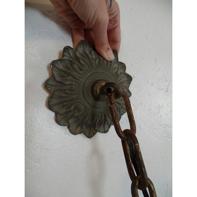 Vintage Victorian Scrolled Swagain Light - Image 5 of 5
