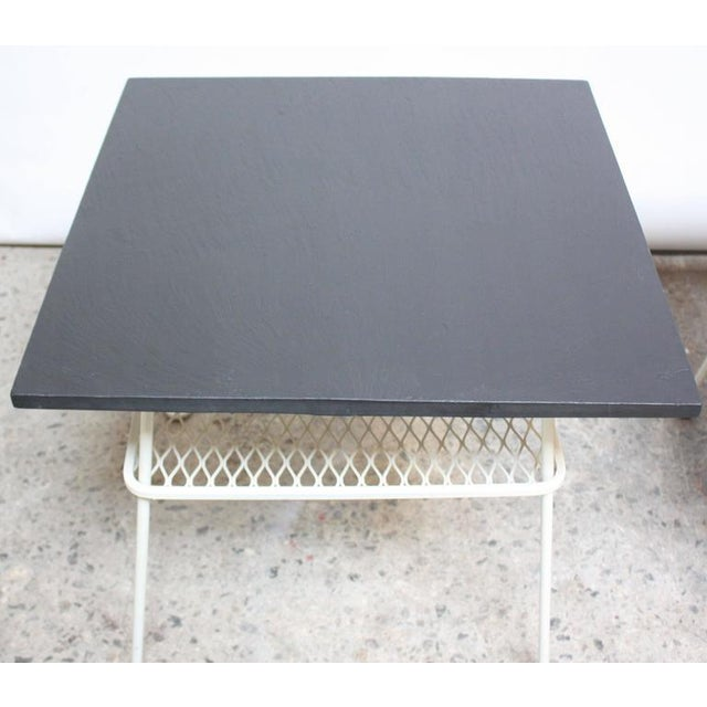 Pair of Slate and Iron Tables by Russell Woodard - Image 10 of 11