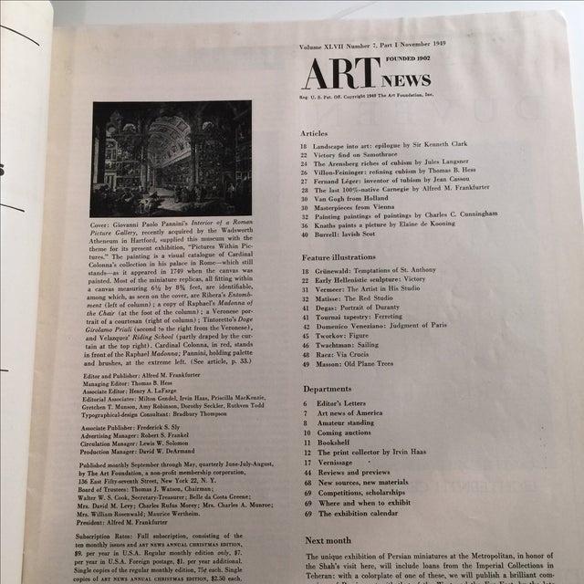 Artnews November 1949 Magazine - Image 3 of 10