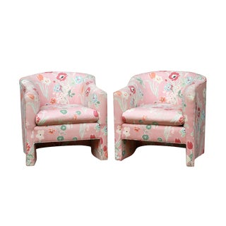 Vintage Hollywood Regency Club Chairs - A Pair