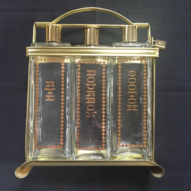 Whisky Decanter Set with Lock - Image 2 of 6