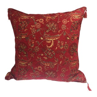 Red Kilim Patterned Pillow Cover