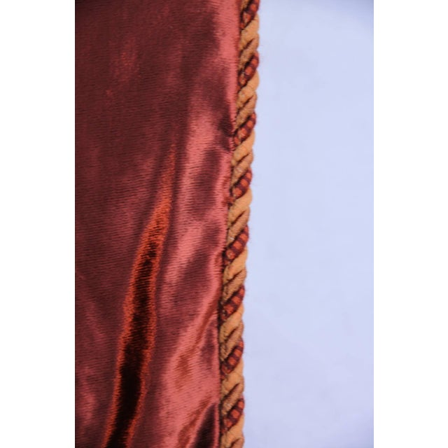 Image of Custom Cognac & Gold Stenciled Throw