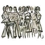 Image of Original Fashion Illustration on Paper