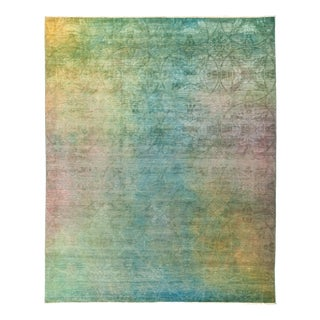 """Vibrance Over Dyed Hand Knotted Area Rug- 8'2"""" x 10'1"""""""