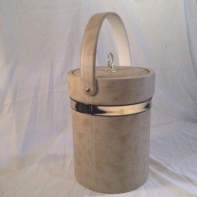 Mid-Century Camel Vinyl Ice Bucket - Image 3 of 6