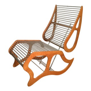 Rare Prototype Mid-century Modern Aluminum Rod & Plywood Chair