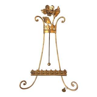 Vintage Florentine Gilt Display Easel