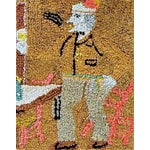 Image of Late 19th Century Figural Hooked Rug