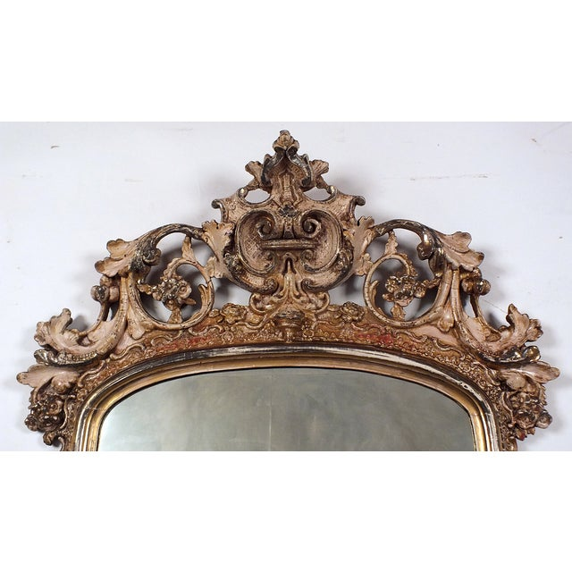 Late-19th Century Large Standing Italian Mirror - Image 3 of 9