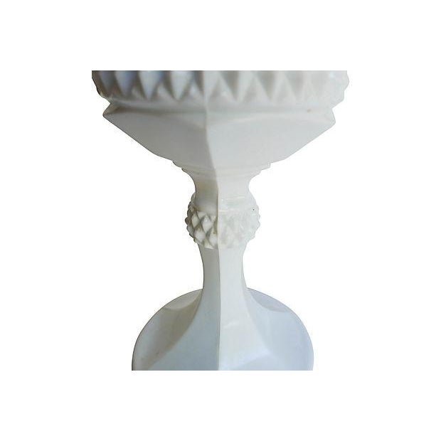Vintage Milk Glass Urns - A Pair - Image 5 of 6