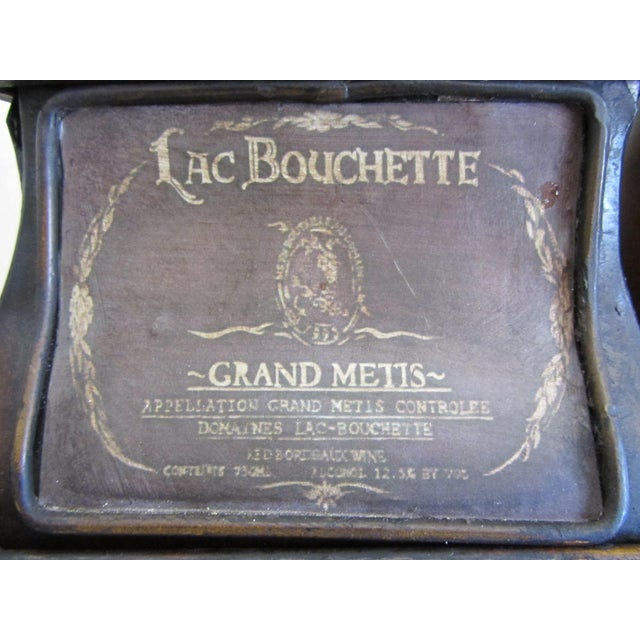Image of Decorative French Metal Tray & 3 Canisters