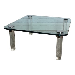 Pace Collection Lucite & Glass Coffee Table