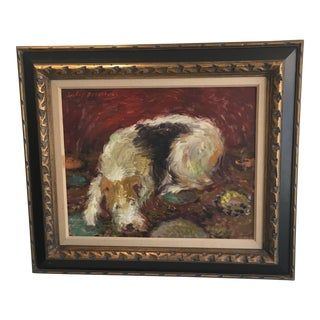 1966 Oil Painting of Dog
