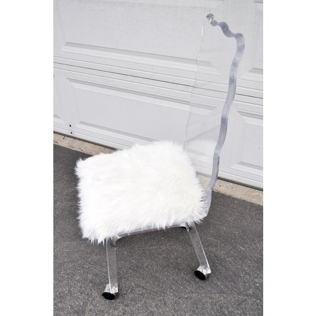 Mod Lucite Dining Chairs - Set of 6 - Image 7 of 8