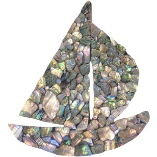 Abalone & Mother of Pearl Boat Art