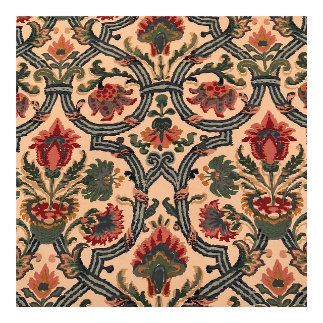 """Lee Jofa's """"New Sevilla"""" in Multi Linen Fabric - Almost 3 Yds - Image 1 of 7"""