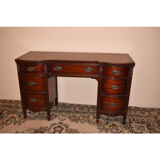 Dixie Furniture Antique Mahogany Desk - Image 2 of 10 - Dixie Furniture Antique Mahogany Desk Chairish