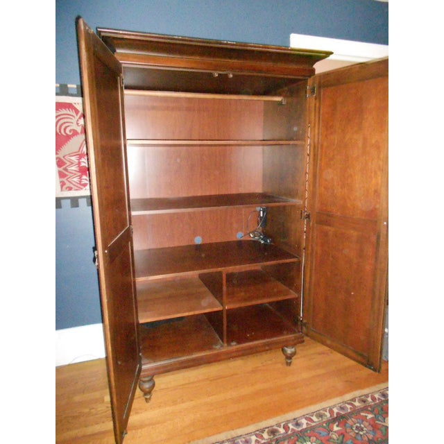 Wooden Armoire With Cane Panels - Image 4 of 5