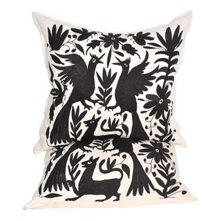 Otomi Embroidered Pillows - A Pair