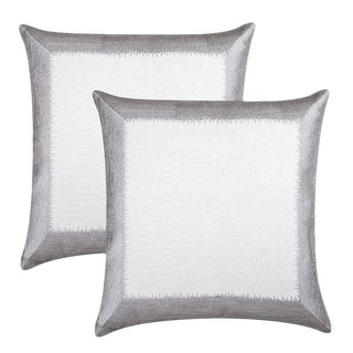 "Piper Collection Silver ""Ella"" Pillows - A Pair"