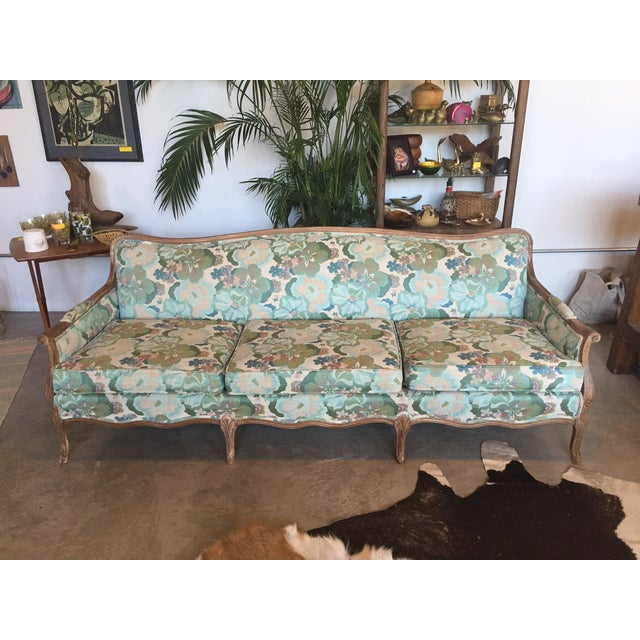 Image of Tropical Vintage Floral Sofa