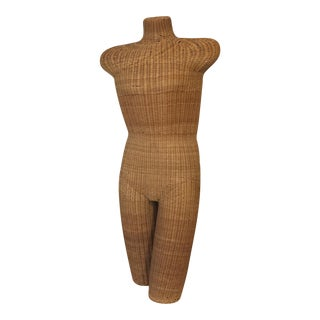 Vintage Wicker Life Size Mannequin