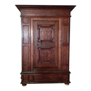 19th C. Gothic Renaissance Style Ornate Carved Cabinet