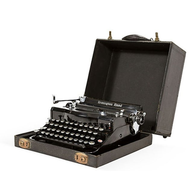 Image of Antique 1930s Remington Rand Typewriter with Case