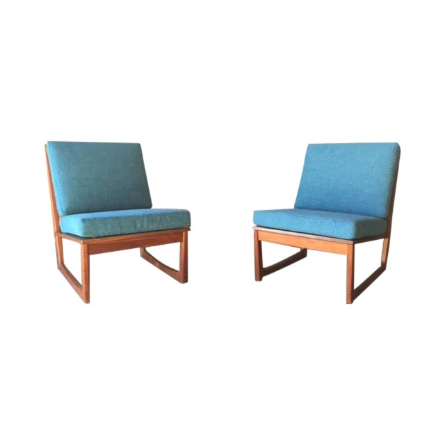 Mid Century Danish Lounge Chairs, Jacob Kjaer - 2 - Image 1 of 6