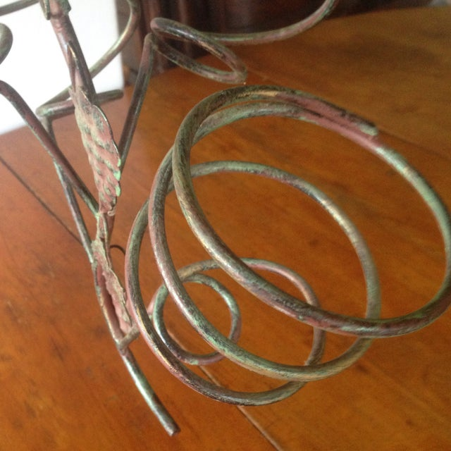 Vintage Metal Hanging Bottle Tree - Image 6 of 11