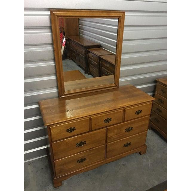 Solid Maple Dresser & Mirror - Image 3 of 6
