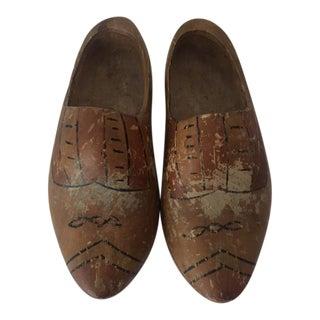 Vintage Dutch Wooden Clogs - A Pair