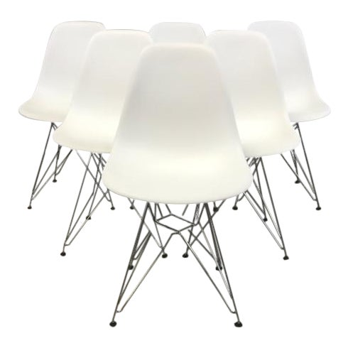 Image of Eames Molded Dining Chairs - Set of 6